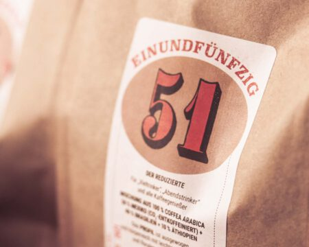 der Kaffee von Einundfünfzig erhältlich im House & Living Loft