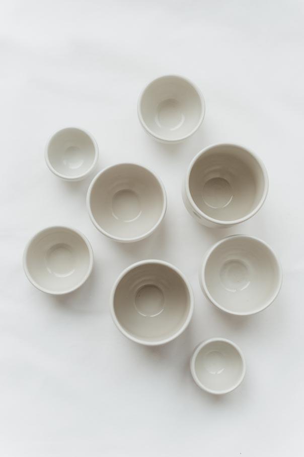 Die Tassen der Serie Ruhepunkt von 4rooms gibt es in vier verschiedenen Größen